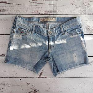 Hollister Women's  Denim Distressed Shorts Sz 1